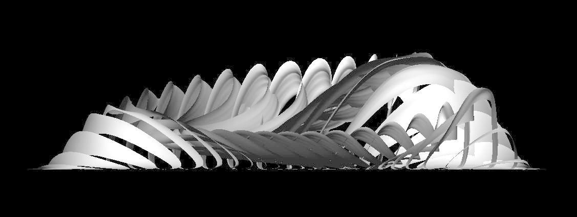 fluid dynamics architecture. software: maya fluid dynamics, mel dynamics architecture p